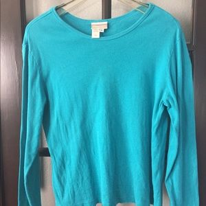 Turquoise Long Sleeved T-Shirt